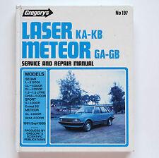 Ford Laser KA-KB, Meteor GA-GB 1981-85 Gregory's Service & Repair Manual #197