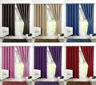 Luxury Thermal Blackout Curtains Black Blue Red Plum Supersoft Eyelet Ring Top
