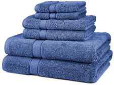 NEW 6 Piece 100% Egyptian Cotton 725 Gram Bath Towel Towels Set, Wedgewood, Blue