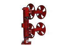 "12"" RED Heavy-Duty SWIVEL-BASE Double Welding Lead Reel"