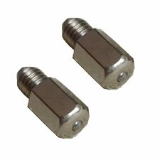 2 Pieces Flat Head Grease Fitting UNF #8-36 8-36 Straight Brass U-C6