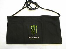 New Black Monster Energy Drink 3 Pocket Waist Apron Screened On Logo Graphic