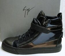 Giuseppe Zanotti Plated-Strap Double Zip High Top Sneakers Shoes 40