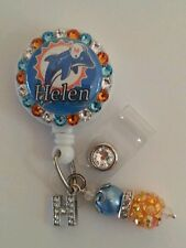 Personalized Dolphin card reel/ id badge holder for nurses, teachers, etc...