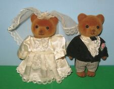 VINTAGE APPLAUSE TEDDY & TAMMY BRIDE & GROOM WEDDING BEARS-4""