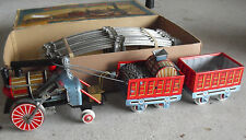 RARE 1950s Cragstan Japan Battery Operated Oldtimer Tin Train Set in Box