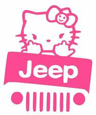 LARGE HELLO KITTY Truck Car Vinyl Decal Window Sticker for JEEP
