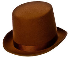 Brown Top Hat Oliver Twist Victorian Adult Fancy Dress Costume Accessory 9207