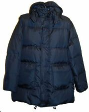 Roberto Cavalli Class Men's Navy Duck DOWN Hood Coat Jacket Sz US 46 US 56