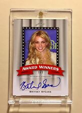 BRITNEY SPEARS 2011 LEAF AWARD WINNERS VERY RARE AUTOGRAPH CARD 1/2 MADE