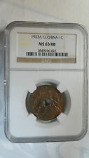 French Indochina Vietnam 1 Cent, 1923A, NGC MS 63RB, Very Rare