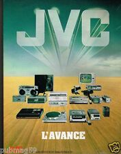 Publicité advertising 1980 TV Hi-Fi Video JVC