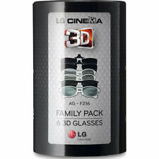LG AG-F216 CINEMA 3D GLASSES FAMILY 6  PACK Brand New, Factory Sealed