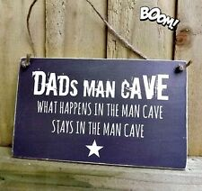 PERSONALISED MAN CAVE SIGN PLAQUE DEN SHED OFFICE GIFT DAD GRANDAD