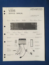 KENWOOD V-205 TV TUNER EQ SERVICE MANUAL ORIGINAL FACTORY ISSUE GOOD CONDITION