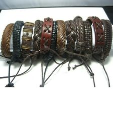 brand new 20pcs men's women's retro vintage leather bracelets wholesale lots