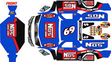 Losi 5ive T wrap decals stickers nos trophy truck with chassis protectors kit