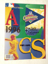 1996 LEAGUE CHAMPIONSHIP SERIES MLB OFFICIAL PROGRAM , NEW