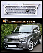 2005-2009 Range Rover SPORT Full Chrome Front Grill 2010 NEW Look w/FREE Badge