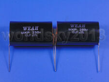2pcs For WEAH 250V 10uF MKP Crossover Polypropylene Non-Polarity Capacitor