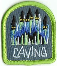 girl cub boy CAVING cave tour Fun Patches Crests Badges Guide Scout Iron On trip