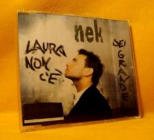 MAXI Single CD Nek Laura Non C'è / Sei Grande 2TR 1997 Italian Pop Rock