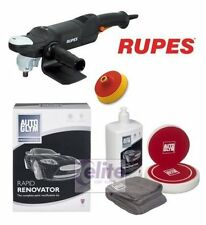 Rupes LH18ENS Rotary Polisher Autoglym Rapid Renovator Machine Polishing Kit