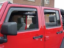 In-Channel Wind Deflectors for a 2007-2016 Jeep Wrangler Unlimited (4-Door)