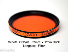 Schott OG570 52mm x 2mm thk 570nm Longpass Infrared Color IR Photography Filter