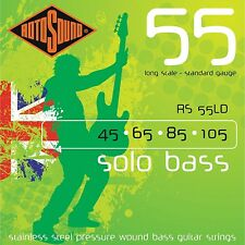 ROTOSOUND RS55LD PRESSURE WOUND STAINLESS STEEL BASS GUITAR STRINGS 45-105