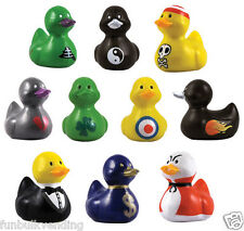 RARE DUCK RUBBER DUCKIES DUCKY PENCIL TOPPERS COLLECTION SET PARTY FAVORS 11 PCS