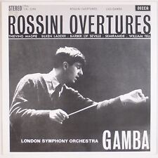 ROSSINI OVERTURES: LSO Gamba SPEAKERS CORNER 180g SXL 2266 Decca NM- LP