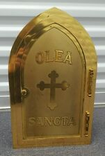 ANTIQUE BRONZE AND METAL WALL SAFE TABERNACLE, Church