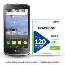 TracFone LG Rebel 4G LTE Prepaid Smartphone with Free $30 Airtime installed in p