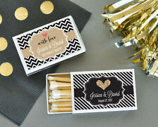 50 Personalized Wedding Theme Match Boxes Bridal Shower Wedding Favors