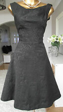 MONSOON BLACK JAQUARD JAYA 50's COCKTAIL PARTY WEDDING XMAS EVE SPARKLE DRESS 22