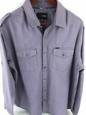 Hurley Mens XL Light Purple Long Sleeve Button Front G-46