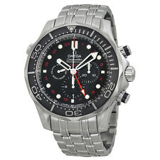 Omega Seamaster Diver Black Dial Chronograph Mens Watch 21230445201001