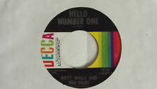 """KITTY WELLS AND RED FOLEY -Hello Number One- 7"""" 45"""