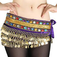 HOT! Beautiful NEW Belly Dance dancing Waist Chain Hip Scarf gemstone Costume