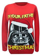 MENS STAR WARS COMEOVER TO MEERY SIDE SNOWFLAKE CHRISTMAS XMAS JUMPER UK 8-18