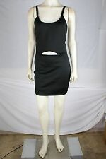POOF COUTURE NEW Black Spaghetti Strap Above Knee Mini Cutout Front Dress M 7 9