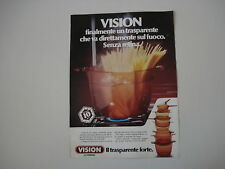advertising Pubblicità 1981 VISION CORNING
