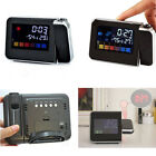 Digital Weather LCD Projection Snooze Alarm Clock Color Display w/ LED Backlight