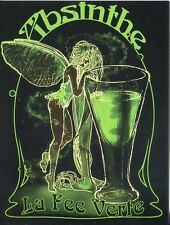 POST CARD OF ADVERTISEMENT OF ABSINTHE LA FEE VERTE HIGH ALCOHOLIC CONTENT DRINK