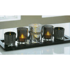 Secret Night Candle Set 5 Tealight Candles Wooden Tray Atmospheric Display