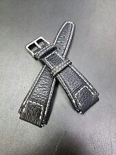 Rios1931 20mm Black Buffalo Leather Watch Strap