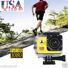 Full HD 1080P DV Sports Recorder Car Cam Waterproof Action Camera Camcorder 12MP