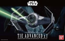 Bandai 1:72 Star Wars Tie Advanced x1 Plastic Model Kit 0191407 BAN191407