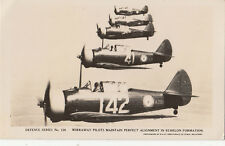 WW2 Australia postcard of Wirraway Pilots in fighter planes flying in formation
